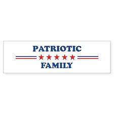 Family: Patriotic Bumper Bumper Sticker