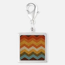 Southwestern Burlap Chevron Zigzags Charms