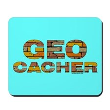 Geocacher Bricks Mousepad