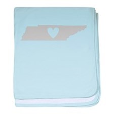 Heart Tennessee baby blanket