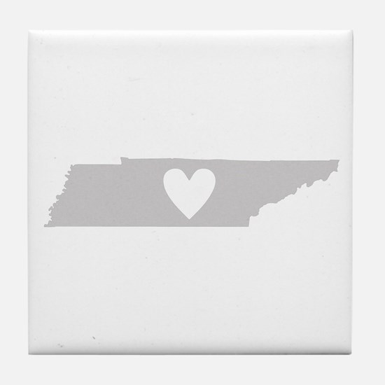 Heart Tennessee Tile Coaster