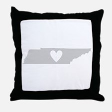 Heart Tennessee Throw Pillow