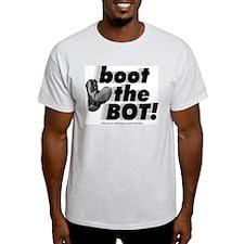 Ash Grey Boot the BOT! T-Shirt