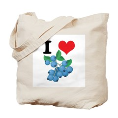 I Heart (Love) Blueberries Tote Bag