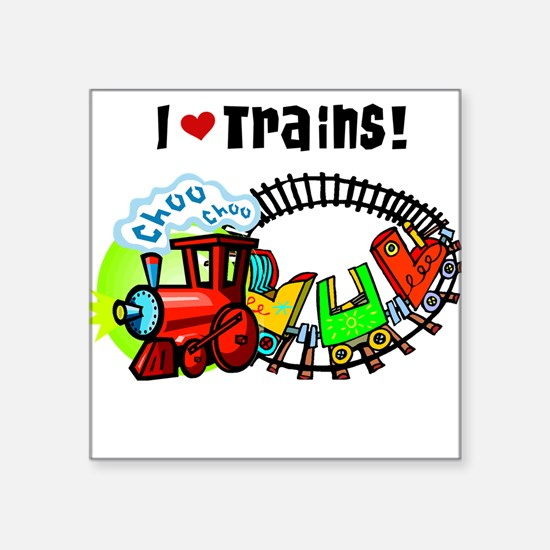 I Love Trains Sticker