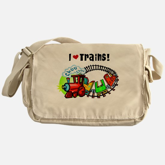 I Love Trains Messenger Bag