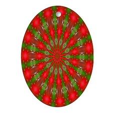 Fractal 9 Oval Ornament