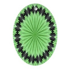 Fractal 6 Oval Ornament