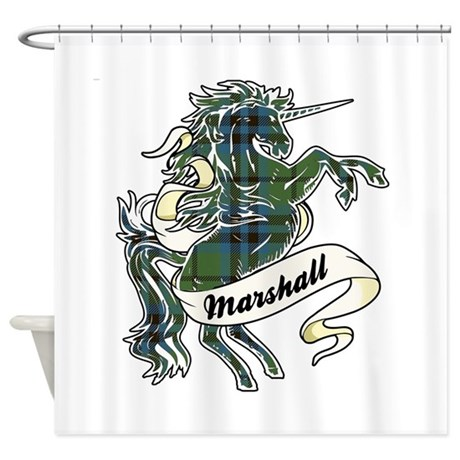 Marshall Unicorn Shower Curtain By ScottishTartans