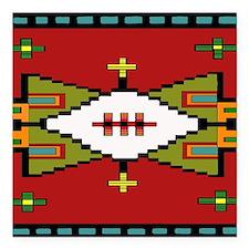"Lakota Spirit Square Car Magnet 3"" x 3"""