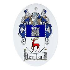 Lenihan Coat of Arms Oval Ornament