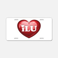 I Love U Heart Aluminum License Plate