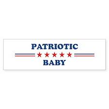 Baby: Patriotic Bumper Bumper Sticker