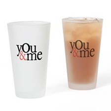 You & Me Drinking Glass