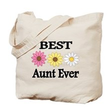 BEST AUNT EVER WITH FLOWERS Tote Bag