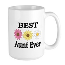 BEST AUNT EVER WITH FLOWERS Mug