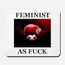 FEMINIST AS FUCK Mousepad
