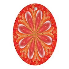 Fractal 5 Oval Ornament