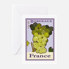 Wines of Bordeaux, France Greeting Cards (Package
