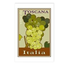Wines of Tuscany, Italy Postcards (Package of 8)