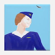Vintage Air Stewardess Tile Coaster