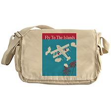 Thirties style air travel poster Messenger Bag