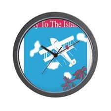 Thirties style air travel poster Wall Clock