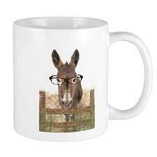 Humorous Smart Ass Donkey Painting Small Mugs