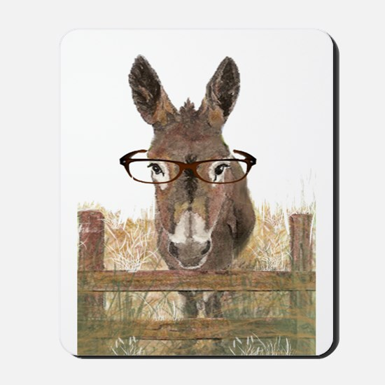 Humorous Smart Ass Donkey Painting Mousepad