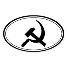 Black Hammer & Sickle Oval Decal
