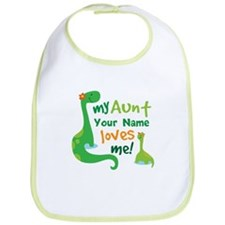 Personalized My Aunt Loves Me Bib
