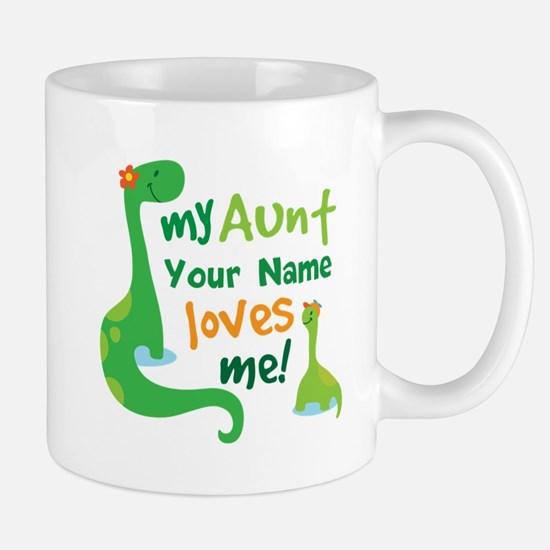 Personalized My Aunt Loves Me Mug