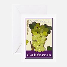 Wines of the Napa Valley, Cal Greeting Cards (Pack