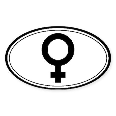 Feminist Symbol Oval Sticker