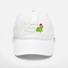 Dreaming of a Green Xmas Baseball Baseball Cap
