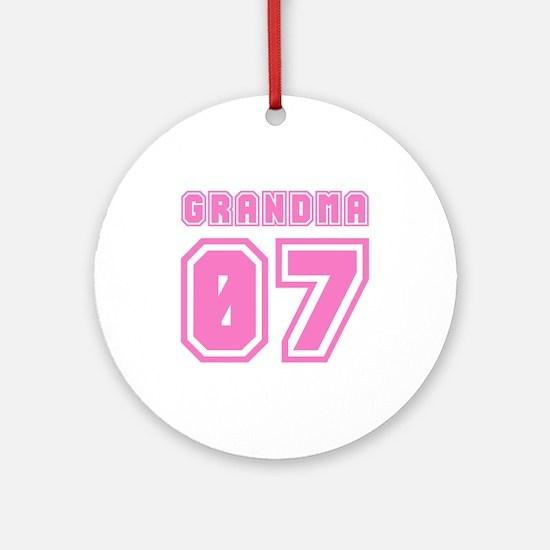 GRANDMA 07 Ornament (Round)