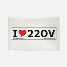 'I Love 220V' Rectangle Magnet