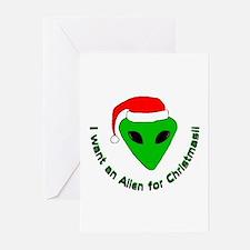Christmas Alien Greeting Cards (Pk of 10)