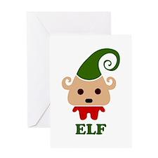 Happy Elf Greeting Card