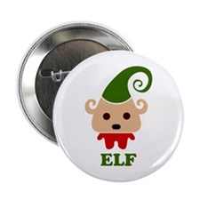 "Happy Elf 2.25"" Button"