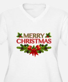 Merry Christmas Berries & Holly T-Shirt