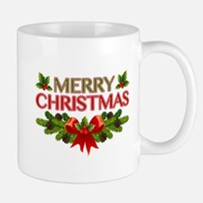 Merry Christmas Berries & Holly Mug
