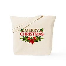 Merry Christmas Berries & Holly Tote Bag