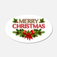 Merry Christmas Berries & Holly Wall Decal