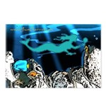 Blue Mermaid Postcards (Pack of 8)