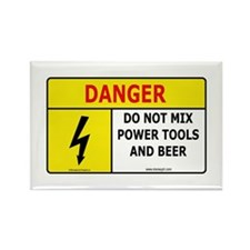 'Power Tools and Beer' Rectangle Magnet