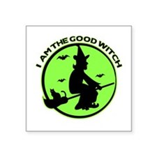 "Good Witch Square Sticker 3"" x 3"""