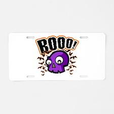Novelty Booo! Halloween Aluminum License Plate