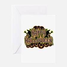 Spooky Happy Halloween Greeting Card
