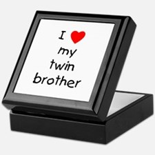 I love my twin brother Keepsake Box